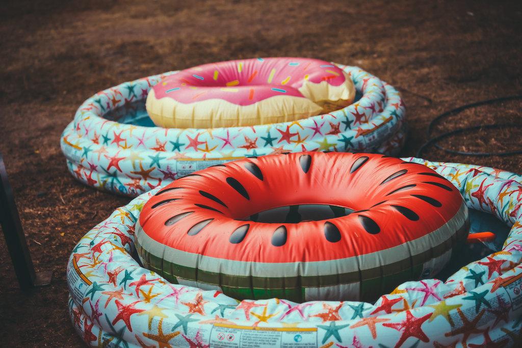 Snack Floaties at Dusk