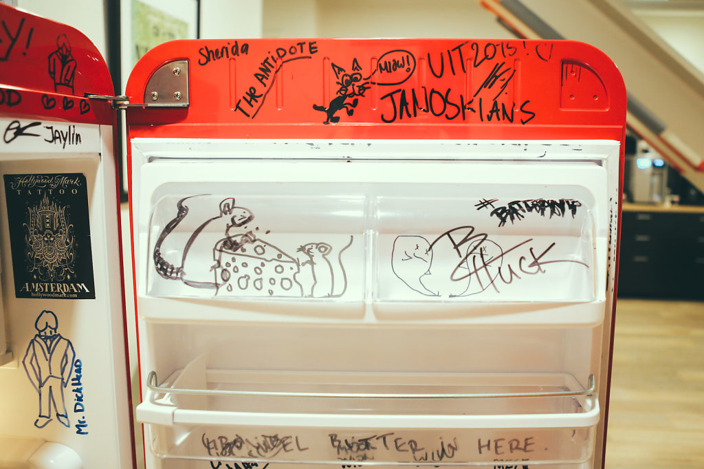 Backstage fridge