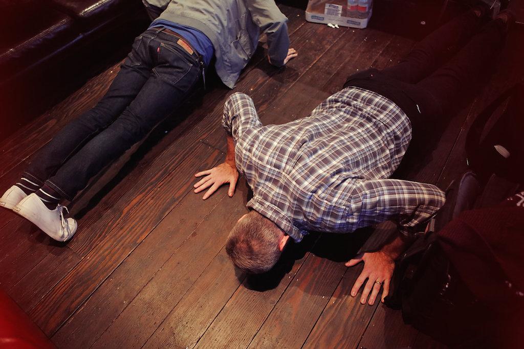 Pre-show pushups